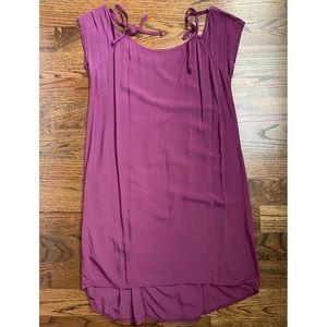 Dresses & Skirts - Purple Viscose Shift Dress